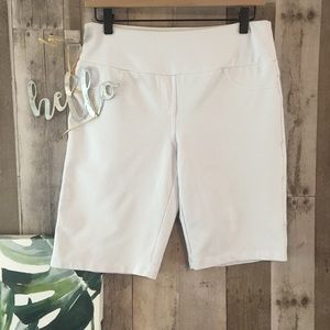 TEEZHER Slimming Shorts Comfortable Slip-On White